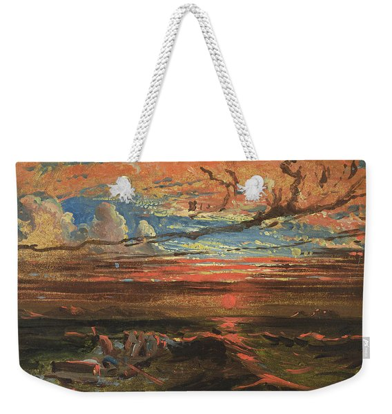 Sunset At Sea After A Storm Weekender Tote Bag