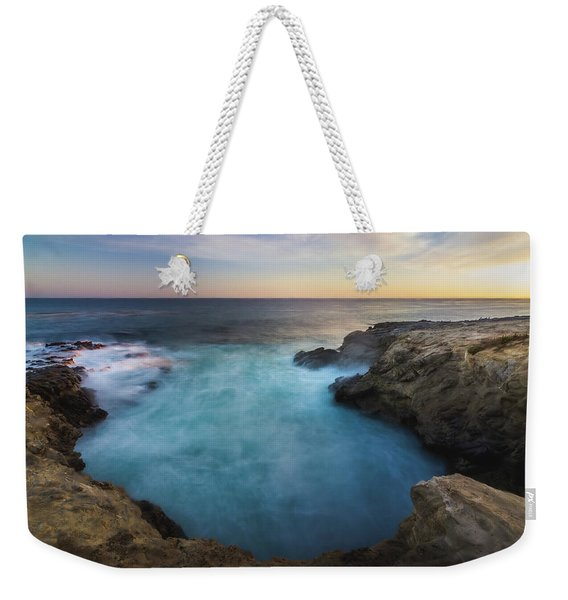 Weekender Tote Bag featuring the photograph Sunset At Sequit Point by Andy Konieczny
