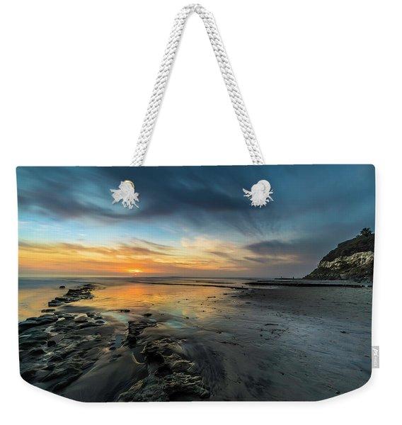 Sunset At Swamis Beach Weekender Tote Bag