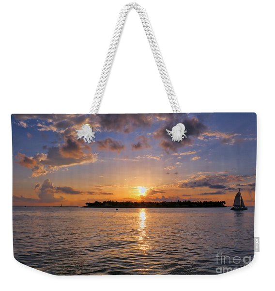 Key West Sunset From Mallory Square Weekender Tote Bag