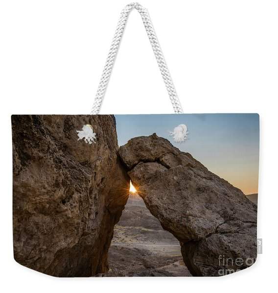 Sunset Over Trona Pinnacles In California. Weekender Tote Bag
