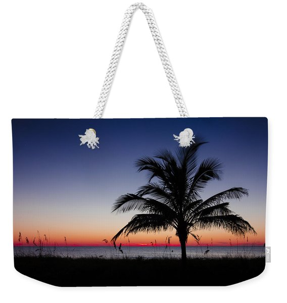 Sunset Palm Weekender Tote Bag