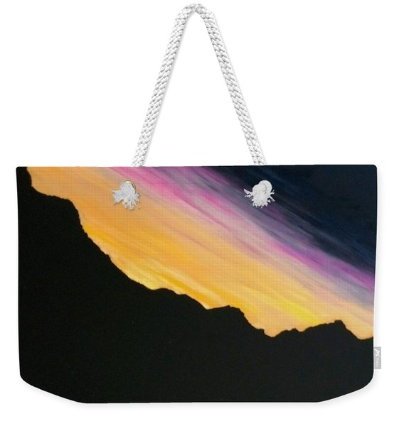Weekender Tote Bag featuring the painting Sunset Silhouette by Kevin Daly