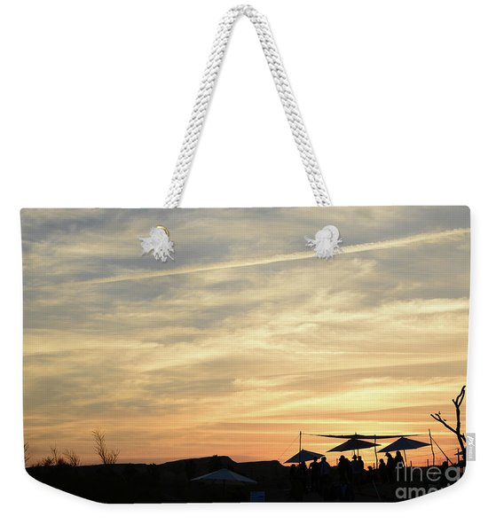Weekender Tote Bag featuring the photograph Sunset View by Arik Baltinester