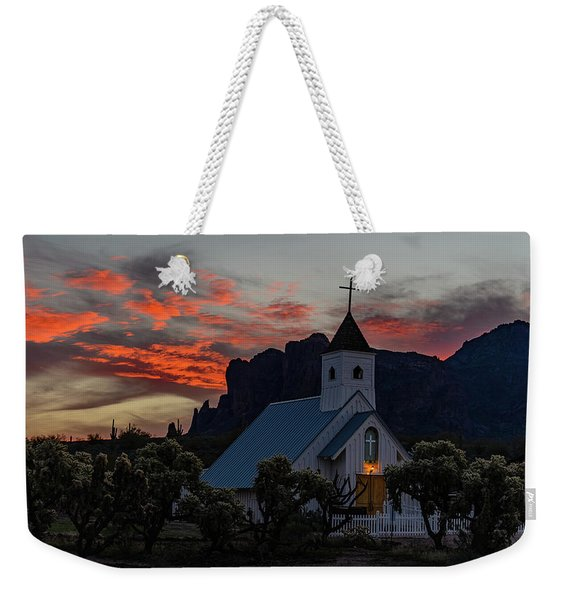 Superstition Sunrise Weekender Tote Bag