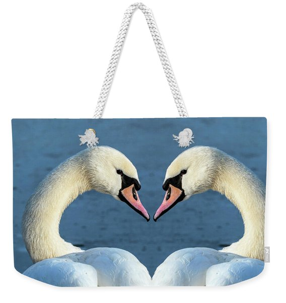 Swans Portrait Weekender Tote Bag