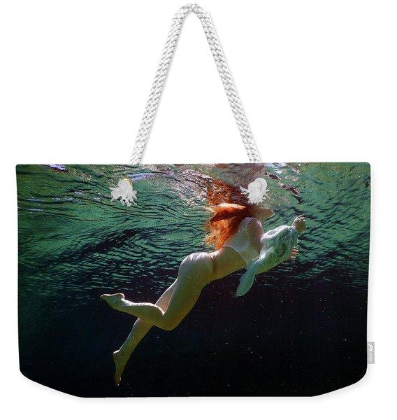 Swimming Weekender Tote Bag