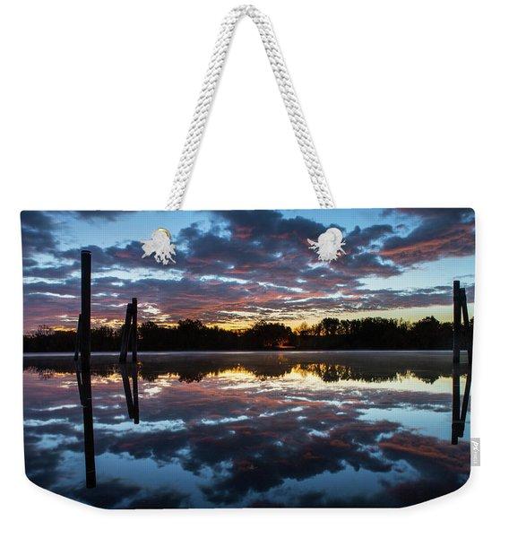 Symetry On The River Weekender Tote Bag