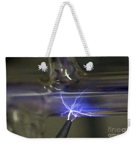 Tesla Coil Weekender Tote Bag