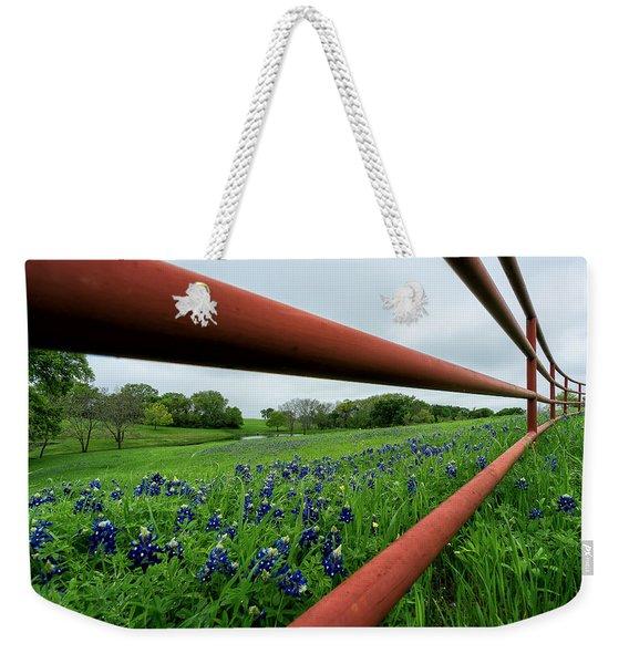 Texas Bluebonnets In Ennis Weekender Tote Bag