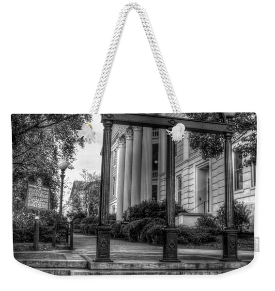 The Arch 5 University Of Georgia Arch Art Weekender Tote Bag