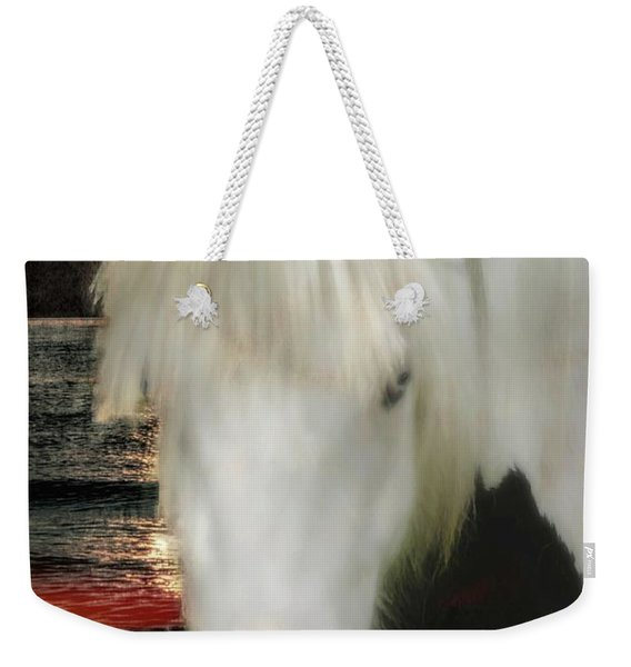 The Beautiful Face Of A Gypsy Vanner Horse Weekender Tote Bag