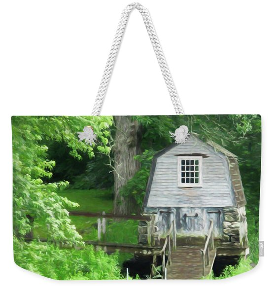 Weekender Tote Bag featuring the photograph Painted Effect - Boathouse by Susan Leonard