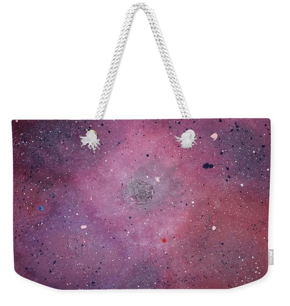 Weekender Tote Bag featuring the painting the Calm by Michael Lucarelli