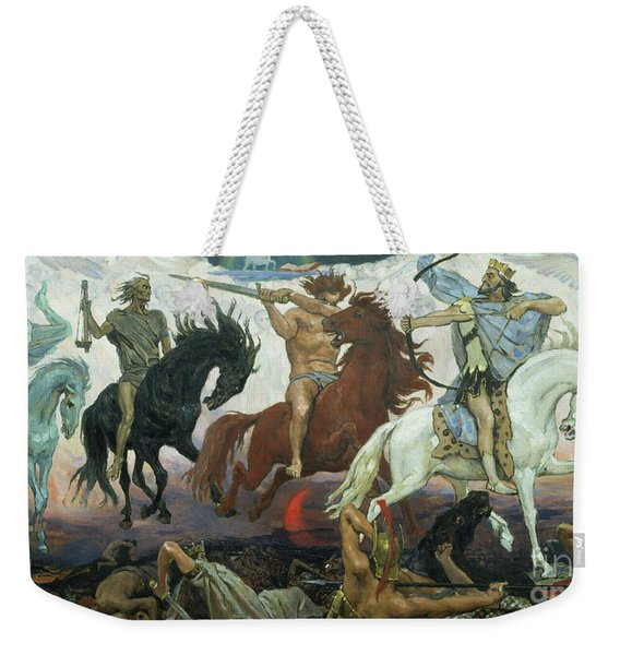 The Four Horsemen Of The Apocalypse Weekender Tote Bag