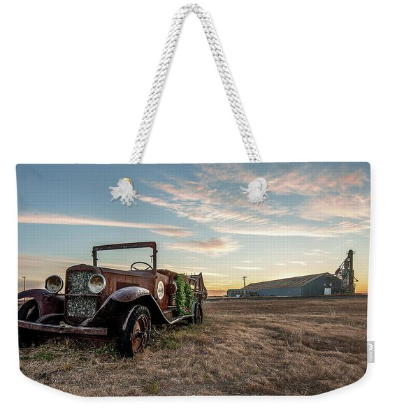 Weekender Tote Bag featuring the photograph The Kress Truck by Scott Cordell