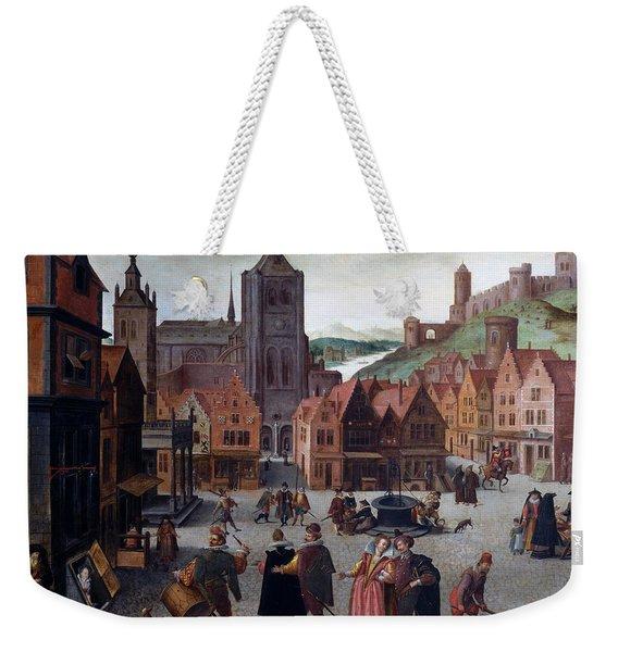 The Marketplace In Bergen Op Zoom Weekender Tote Bag