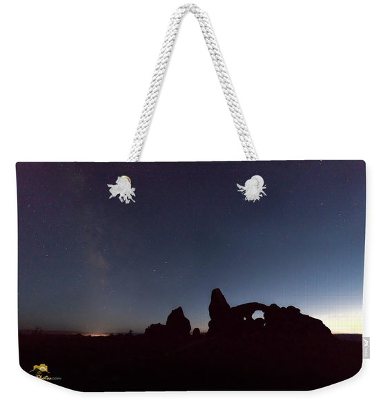 Weekender Tote Bag featuring the photograph The Milky Way by Jim Thompson