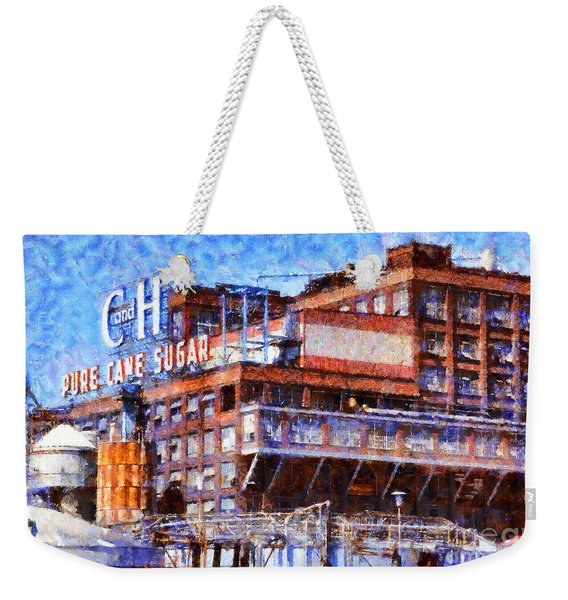 The Old C And H Pure Cane Sugar Plant In Crockett California . 5d16769 Weekender Tote Bag