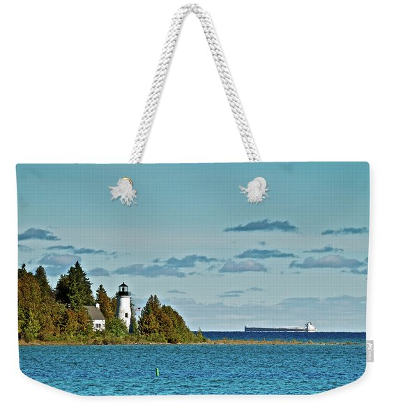 The Old Presque Isle Lighthouse Weekender Tote Bag
