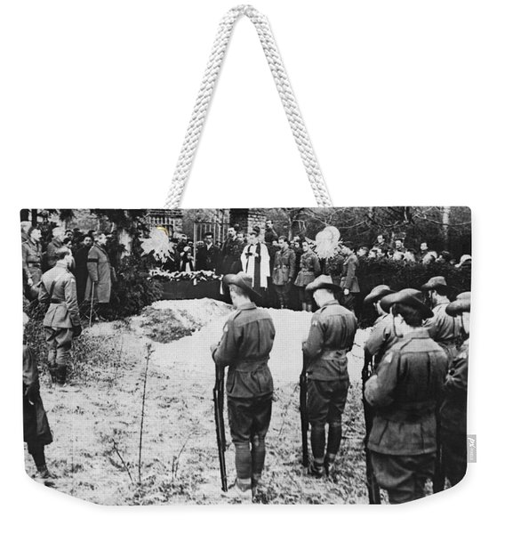 The Red Baron Burial Weekender Tote Bag