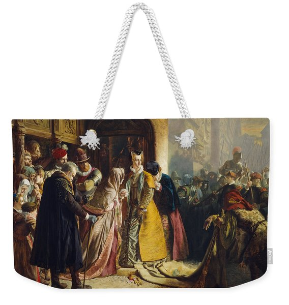 The Return Of Mary Queen Of Scots To Edinburgh Weekender Tote Bag