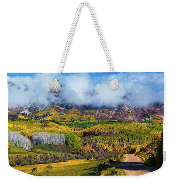 The Road To The Elk Mountains Weekender Tote Bag