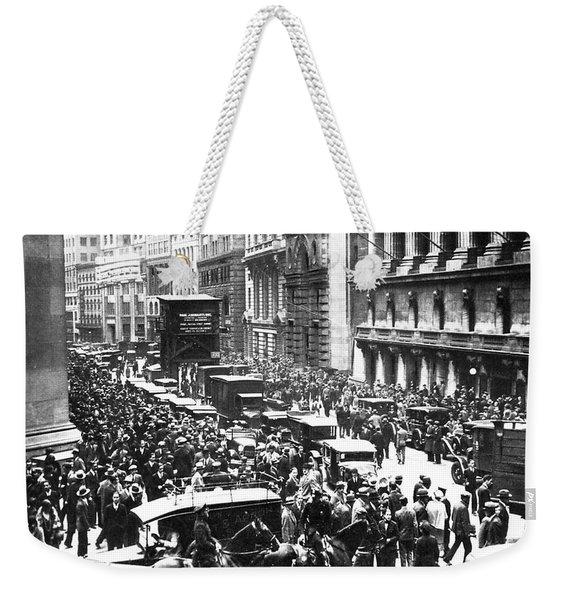 The Wall Street Crash 1929 Weekender Tote Bag
