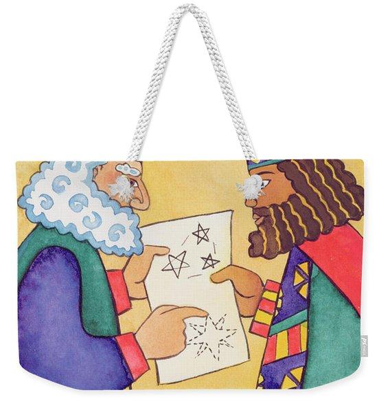 The Wise Men Looking For The Star Of Bethlehem Weekender Tote Bag