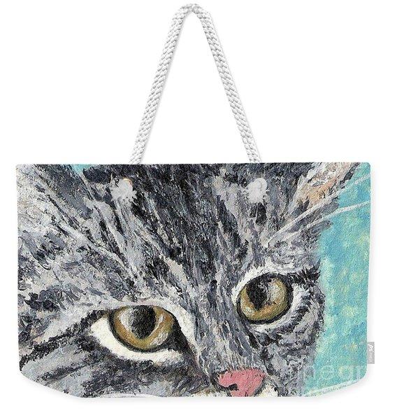Tiger Cat Weekender Tote Bag