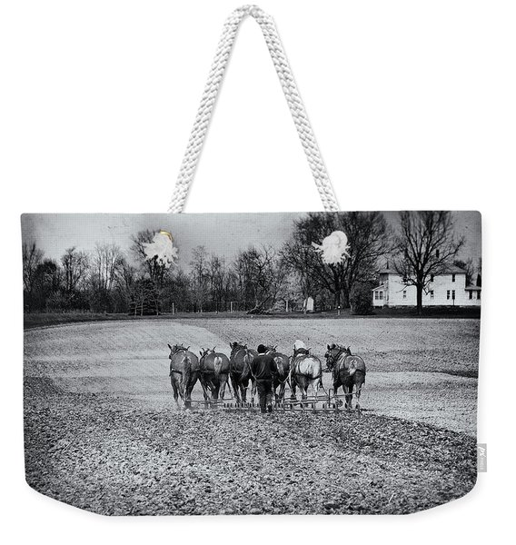 Tilling The Fields Weekender Tote Bag