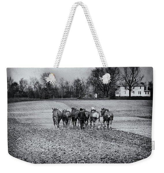 Tilling The Fields Weekender Tote Bag