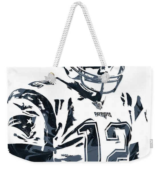 Tom Brady New England Patriots Pixel Art 4 Weekender Tote Bag