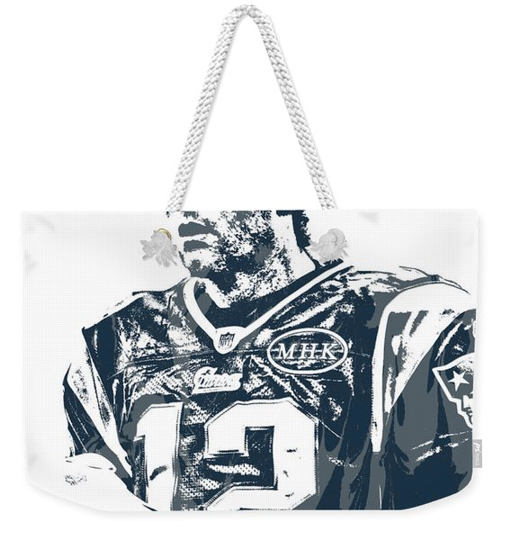 Tom Brady New England Patriots Pixel Art 40 Weekender Tote Bag