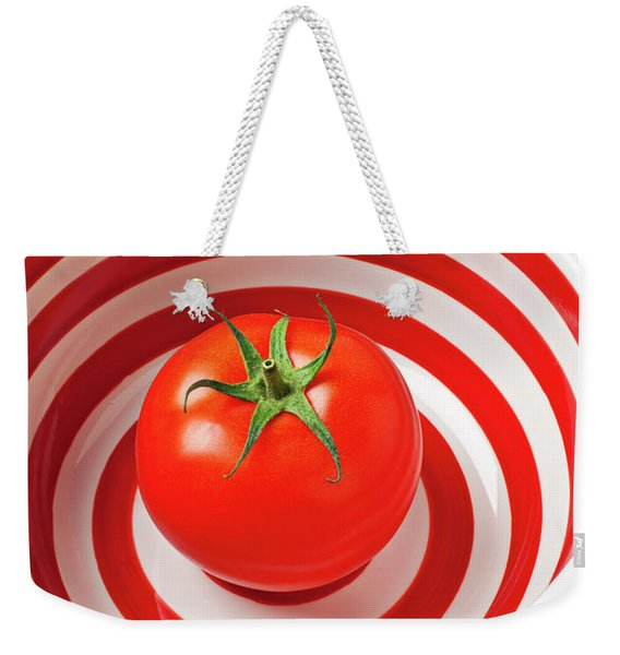 Tomato In Red And White Bowl Weekender Tote Bag