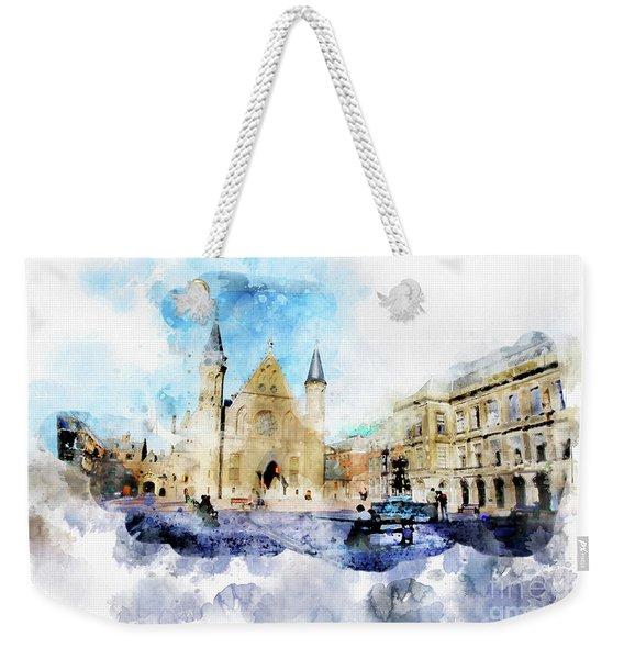 Town Life In Watercolor Style Weekender Tote Bag