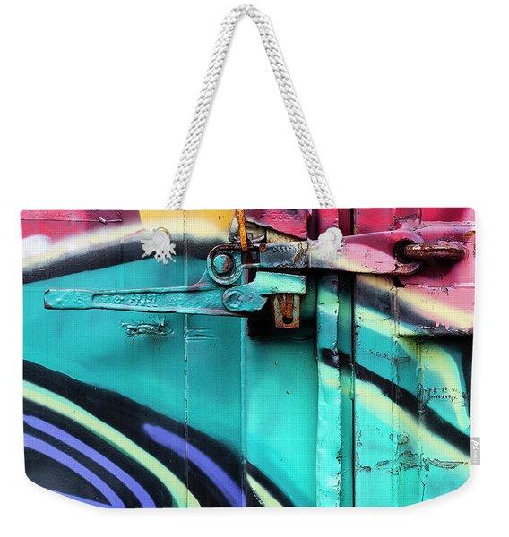Train Art Abstract Weekender Tote Bag