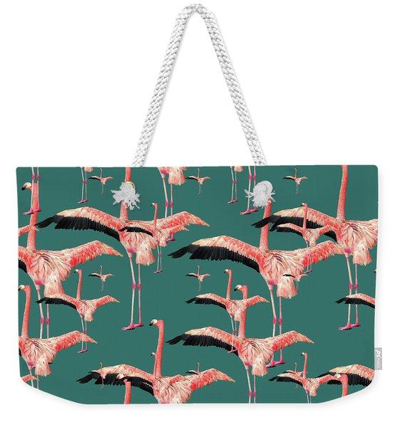 Tropical Flamingo  Weekender Tote Bag