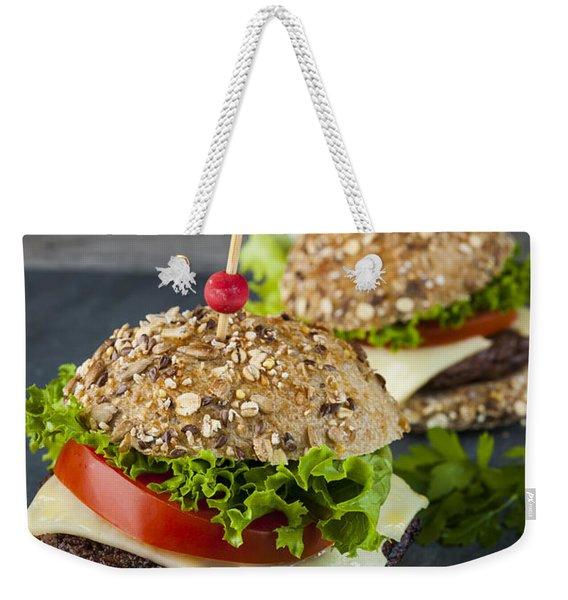 Two Gourmet Hamburgers Weekender Tote Bag