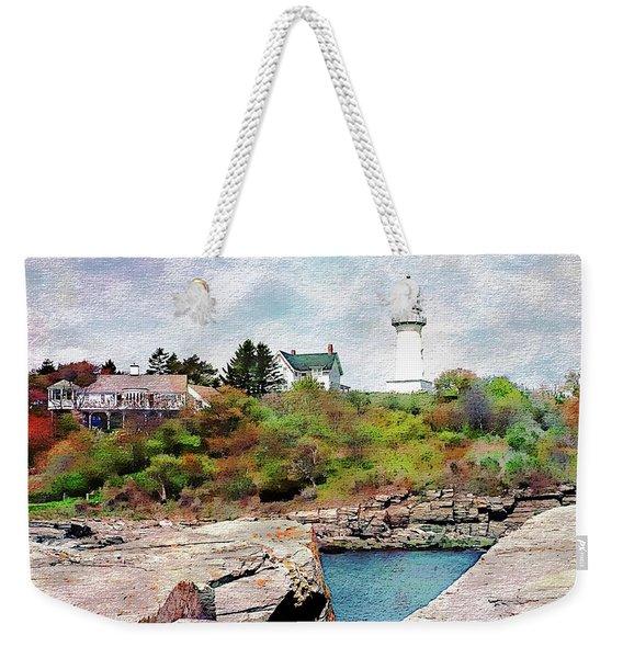 Two Lights - Maine Weekender Tote Bag