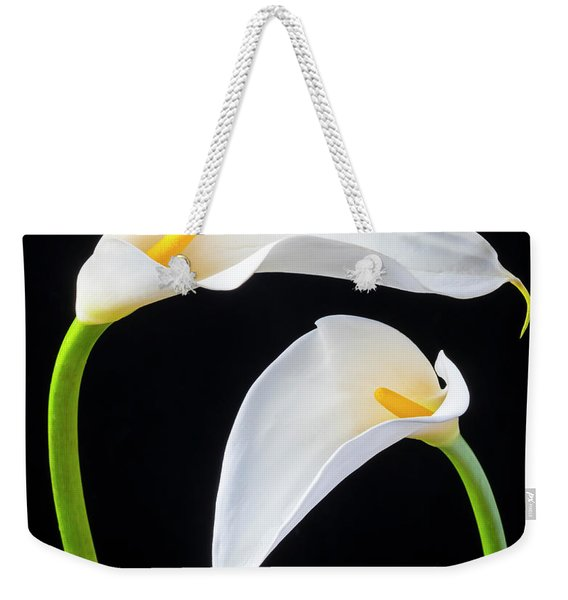 Two Lovely Calla Lilies Weekender Tote Bag