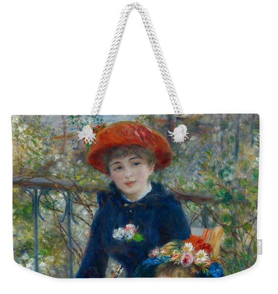 Two Sisters On The Terrace Weekender Tote Bag