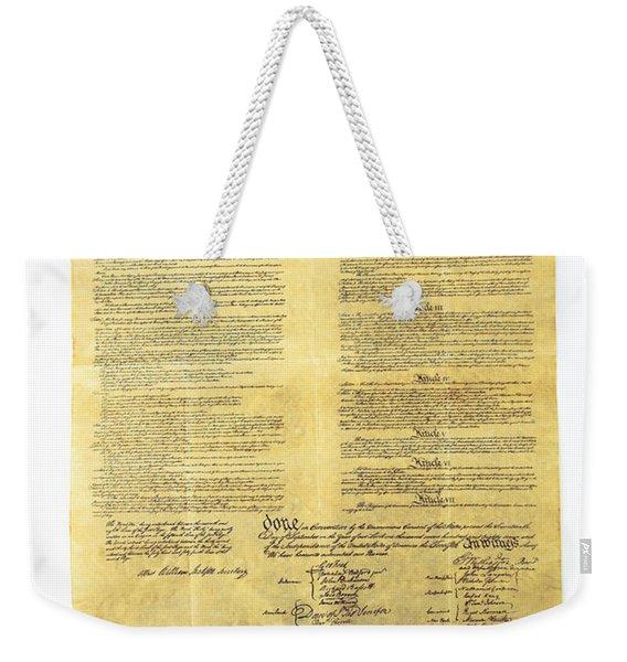 U.s Constitution Weekender Tote Bag