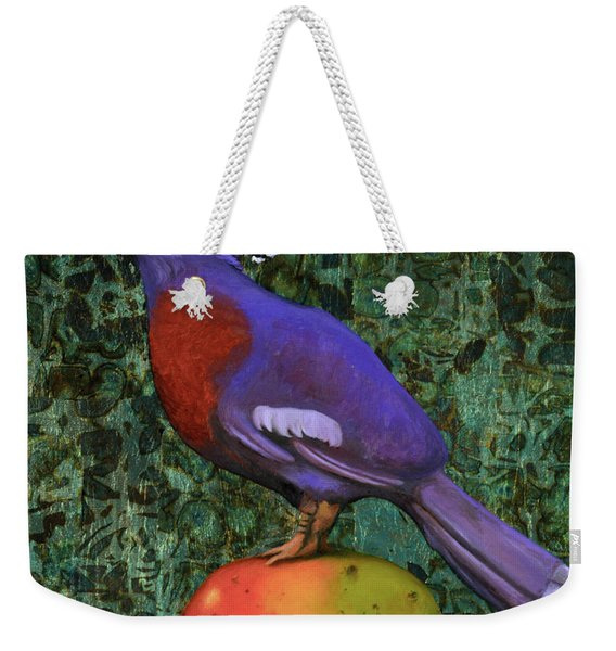 Victoria Crowned Pigeon On A Mango Weekender Tote Bag