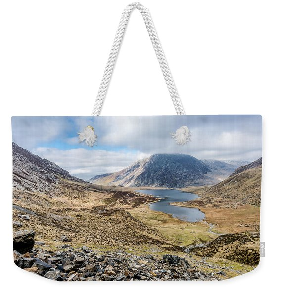 Weekender Tote Bag featuring the photograph View From Glyder Fawr by Nick Bywater