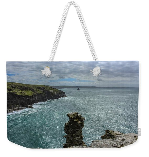 View From The Cliffs At Tintagel  Weekender Tote Bag