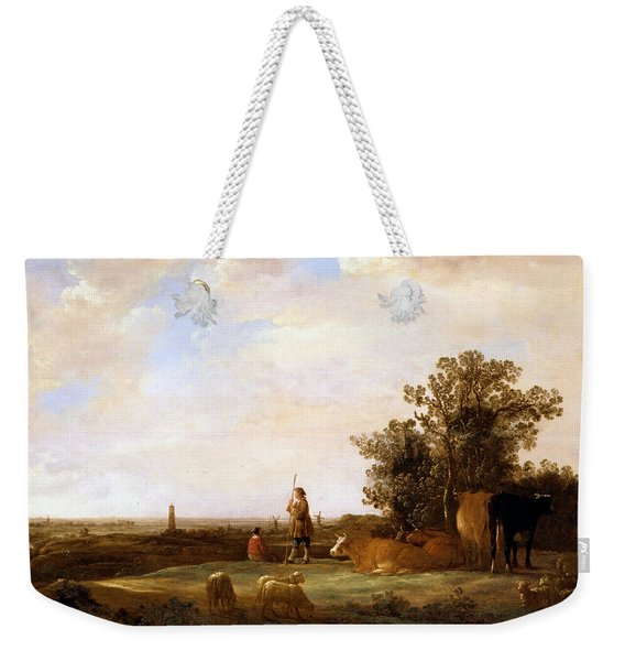 View On A Plain Weekender Tote Bag