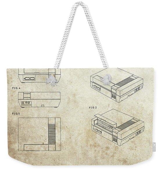 Vintage Nintendo Patent Weekender Tote Bag