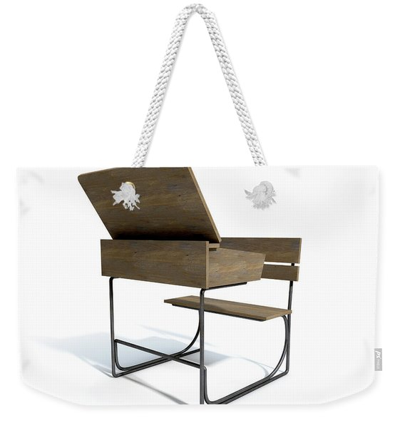 Vintage School Desk Open Empty Weekender Tote Bag