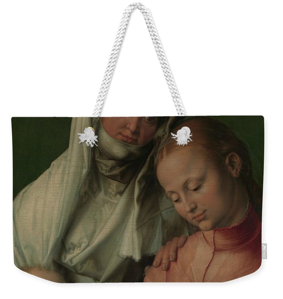 Virgin And Child With Saint Anne Weekender Tote Bag